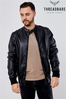 Threadbare PU Biker Jacket