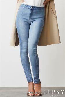 Lipsy Selena High Waist Skinny Short Length Jeans