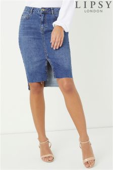 Lipsy Raw Hem Pencil Skirt