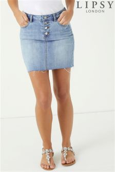 Lipsy Button Front Mini Skirt