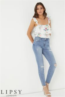 Lipsy Raw Hem Skinny Jeans