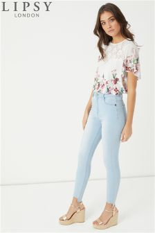Lipsy Selena Step Hem Skinny Jeans