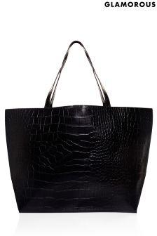 Glamorous Croc Tote Bag