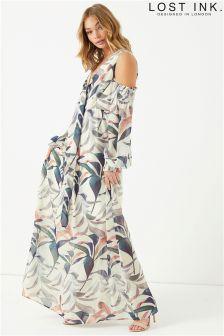 Lost Ink Floral Print Maxi Dress