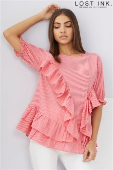 Lost Ink Extreme Frill Smock Top