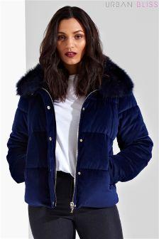 Urban Bliss Velvet Padded Jacket