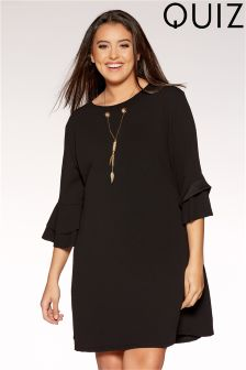 Quiz Curve Double Frill Necklace Tunic Dress