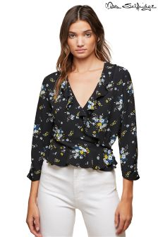 Miss Selfridge Ruffle Wrap Blouse