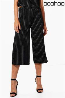Boohoo Pinstripe Culottes