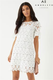 Angeleye Crochet Detail Shift Dress