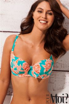 Pour Moi Big Sur Sweetheart Lightly Padded Underwired Bikini Top