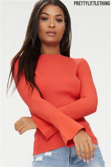 PrettyLittleThing Flared Sleeve Jumper