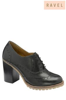 Ravel Block Heeled Lace Up Shoes