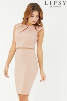 Lipsy Chain Pleated Bodycon Dress