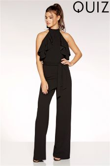Quiz Double Frill Culotte Jumpsuit
