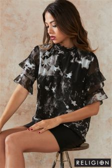 Religion Printed Revolution Top