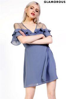 Glamorous Wrap Front Dress