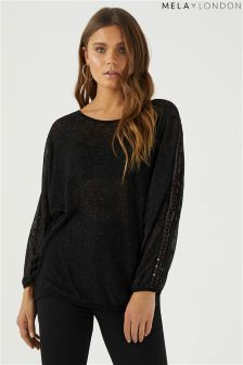 Mela London Sequin Detail Batwing Jumper