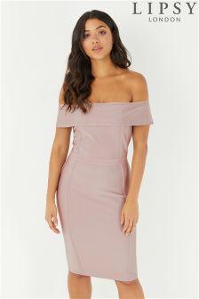Lipsy Bardot Bandage Dress