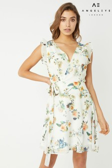 Angeleye Wrap Around Floral Printed Dress