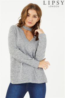 Lipsy Choker Long Sleeve Jumper