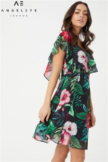 Angeleye Tropical Print Dress