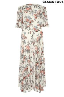 Glamorous Curve Printed Floral Maxi Dress