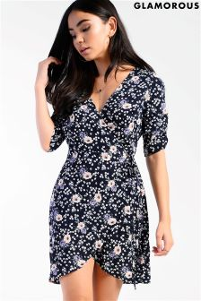 Glamorous Printed Tea Dress