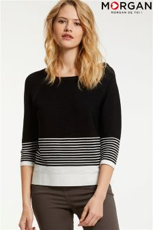 Morgan Striped Knitted Jumper
