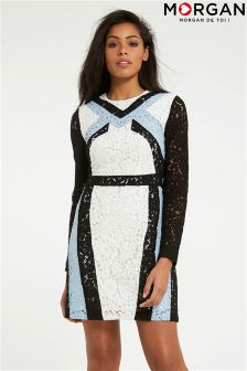 Morgan Graphic Lace Bodycon Dress