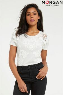 Morgan Lace & Ruffle Detailled Shirt