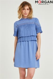 Morgan Lace Pleated Dress