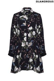 Glamorous Curve Printed Shirt Dress