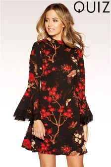 Quiz Frill Sleeve Tunic Dress