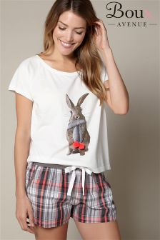 Boux Avenue Bunny Tee And Shorts