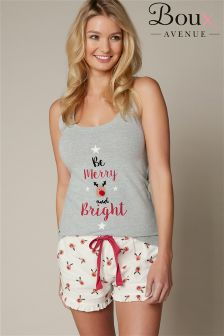 Boux Avenue Be Merry And Bright Vest And Short Set