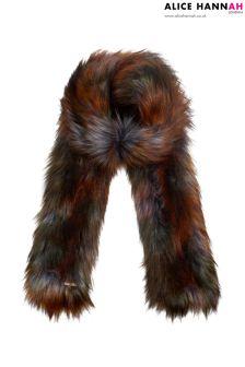 Alice Hannah Faux Fur Contrast Scarf