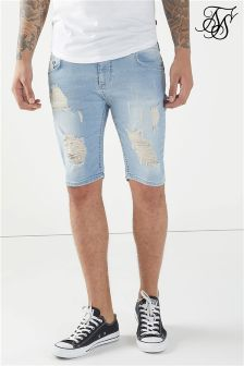Siksilk Distressed Skinny Shorts