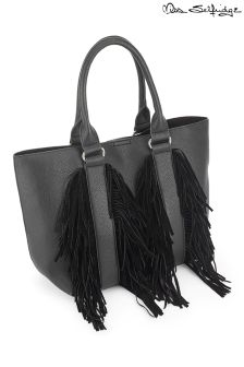 Miss Selfridge Fringe Tote Bag