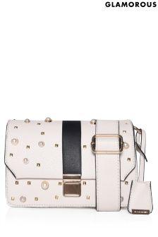 Glamorous Pearl Embellished Cross Body Bag