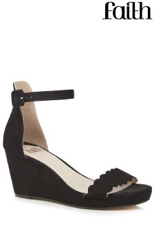 Faith Scallop Wedges