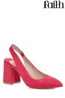 Faith Block Heel Slingback Courts