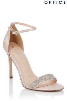 Office Embellished Barely There Heels