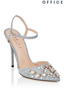 Gris Bureau Embelli Chaussures À Talons - Gris jbzHCkPHl