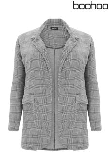 Boohoo Plus Check Blazer