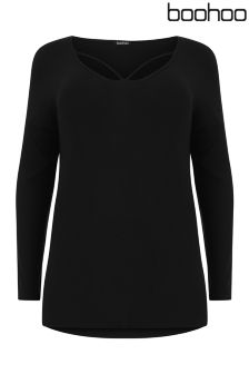 Boohoo Plus Strap Front T-Shirt