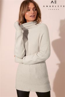 Angeleye High Neck Longline Jumper