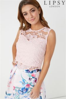 Lipsy Lace Co-ord Top
