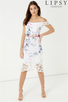 Lipsy Loves Kate Printed Lace Co-ord Skirt