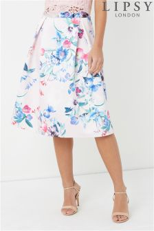 Lipsy Floral Printed Prom Coord Skirt